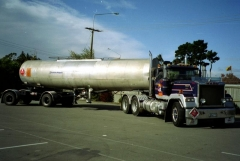 with self steer bitumen tanker