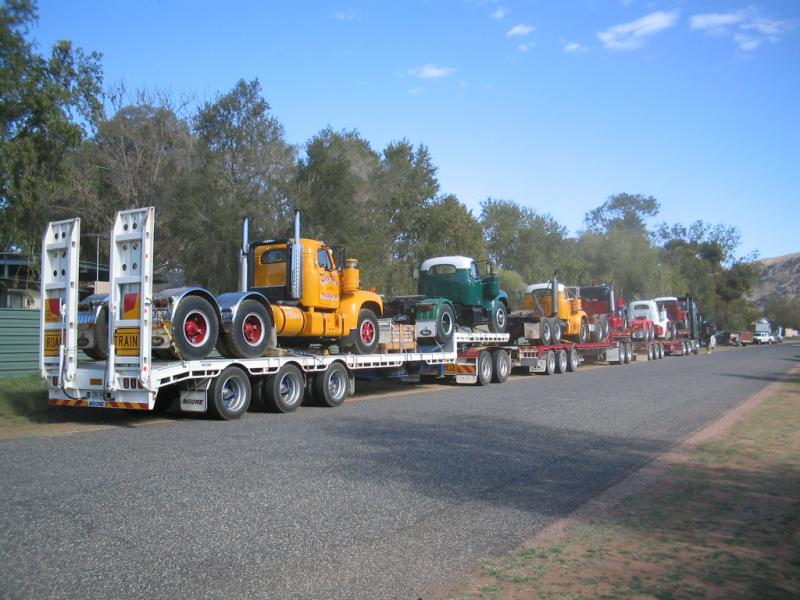 15. Volvo prime mover towing 3 trailers