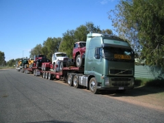 14. Road Train carrying 5 B Models plus Deutz (?)