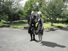 Me and Hubby going to a Scottish Wedding