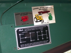 dash plaques from Stonewall Antique Power Show