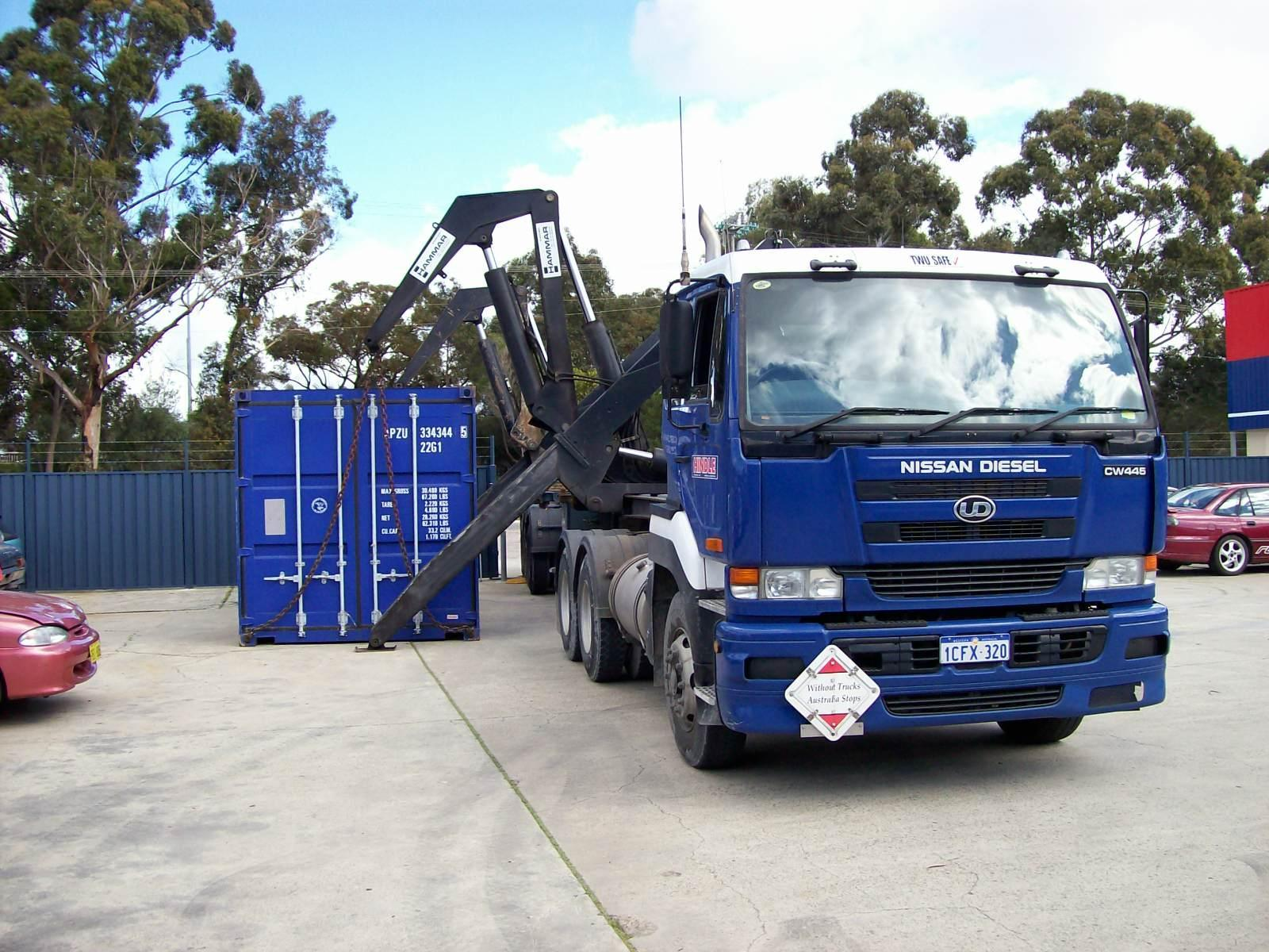 container side lift, 20s or 40s