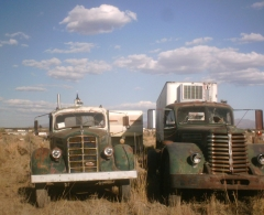 1945 Mack E,next to the Diamond T it just moved.jpg