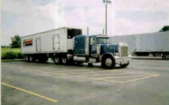 1996 Pete with P. L. M. Leasing Trailer