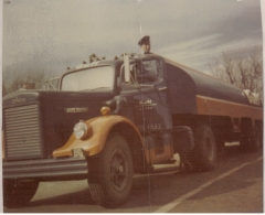 My father, Frank Y. Smith, with 1957 White 4000T