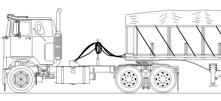 Line Drawing Truck : F model with covered wagon ms paint line drawing bmt