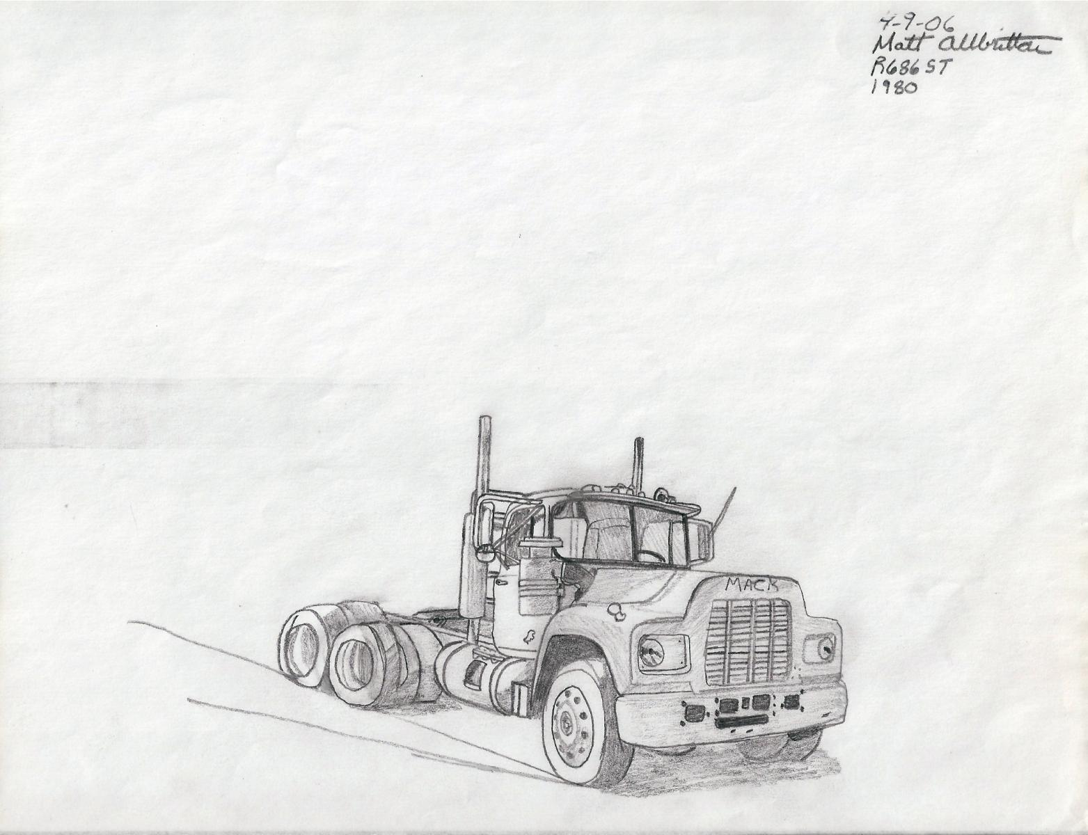 List Of Synonyms And Antonyms Of The Word Mack Truck Drawings