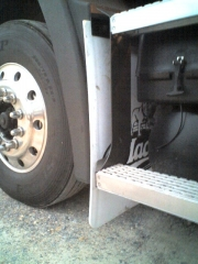 Driver's side front mud flap