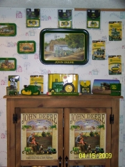 My collection of John Deere memorabilia