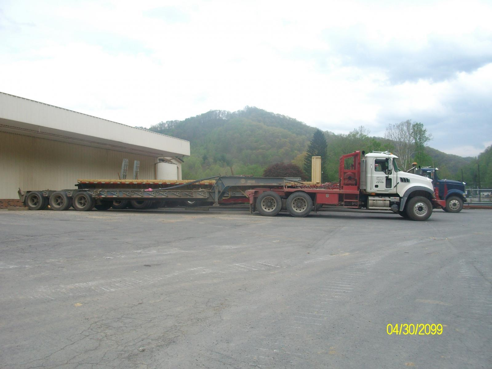 my truck with a lowboy