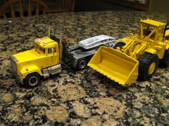 Mack Superliner, Alan Smith cab, custom winch tractor