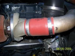 Turbo to charge air cooler hose
