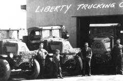 Liberty Trucking Fords, NJ by the shop.
