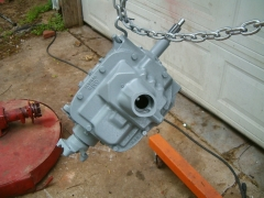 Rebuilt Transmission - Painted and Done, view from the top
