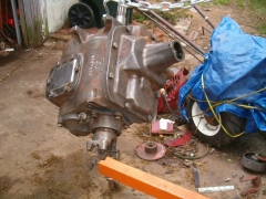 Rebuilt Transmission - almost ready for primer, another view
