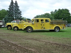 1947 Mack 85LS, 1951 Mack 405A, 1979 GMC 7000