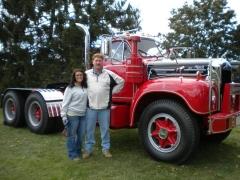 Burlington truck show with daughter 2011