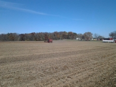 Cutting soybeans fall 2014