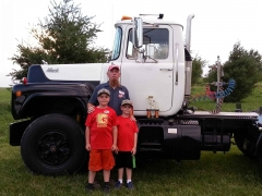 Won 4th place semi truck divison July 2014