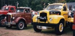 Mack A model and B model at Barrington NH.