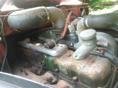 1958 Mack Right engine Top