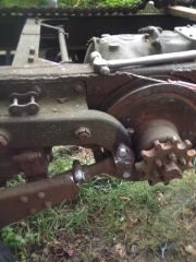 Took off chains.  Sprockets and tranny turn.  Tranny shifts.
