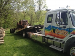Quality towing brought her home.   Good guys.