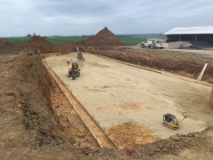 48 X 200 X 13'6 Deep cattle confinement project in Lanark IL