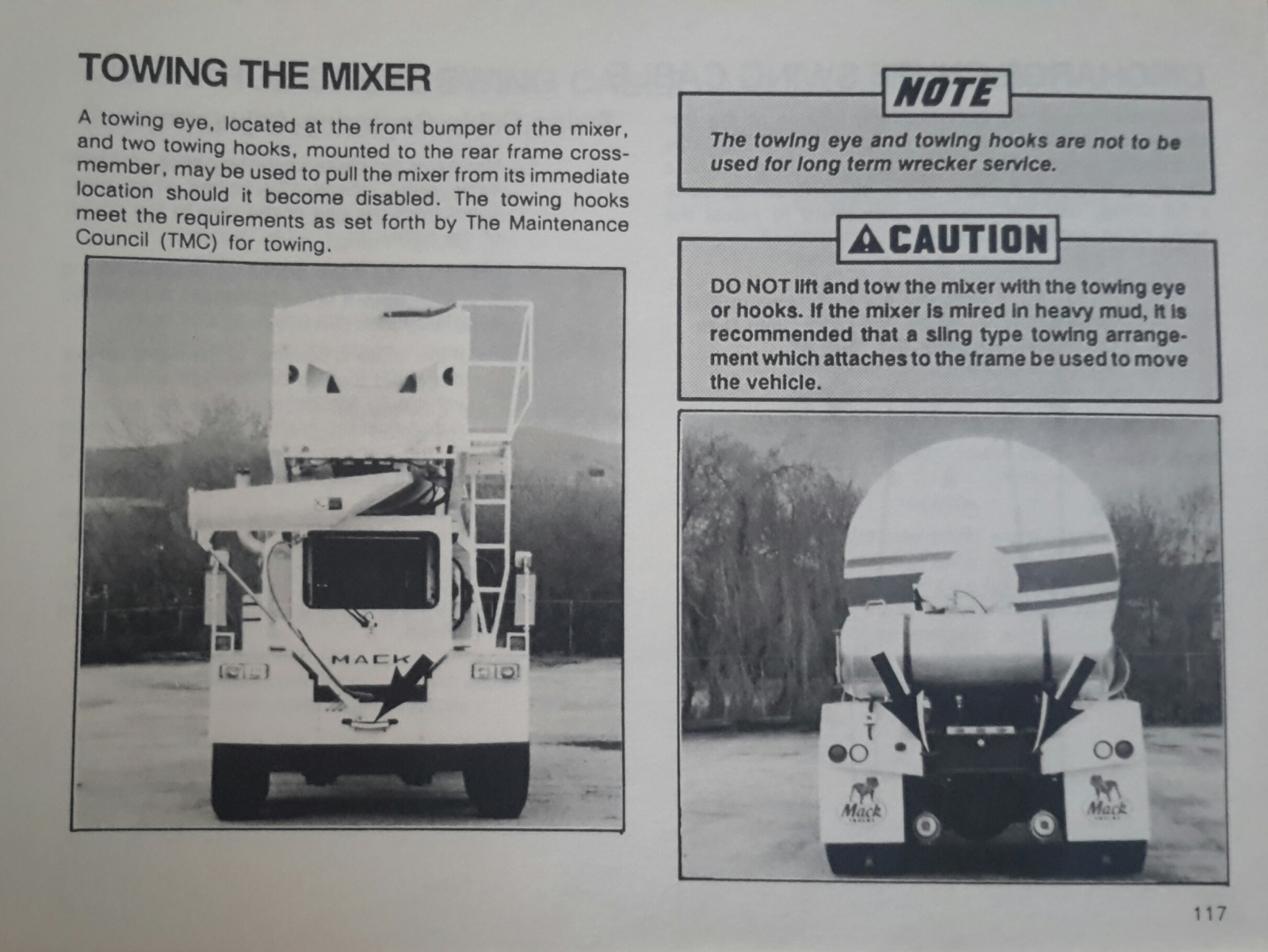Mack/Savage FDM 700 Mixer Operator's Manual  ( Page 117 )