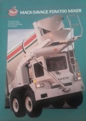 1990 Mack/Savage FDM700 Mixer Brochure  ( Cover )