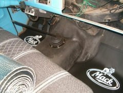 Mack Floor Mats Installed - Viewed from Passenger Side