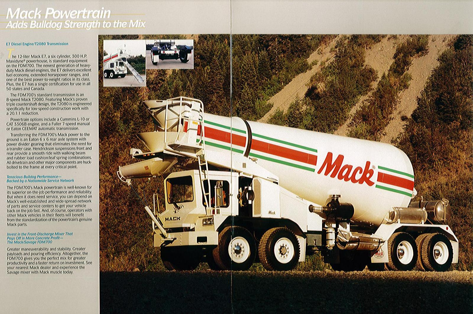 The Mack/Savage FDM700 Front Discharge Mixer - Modern Mack