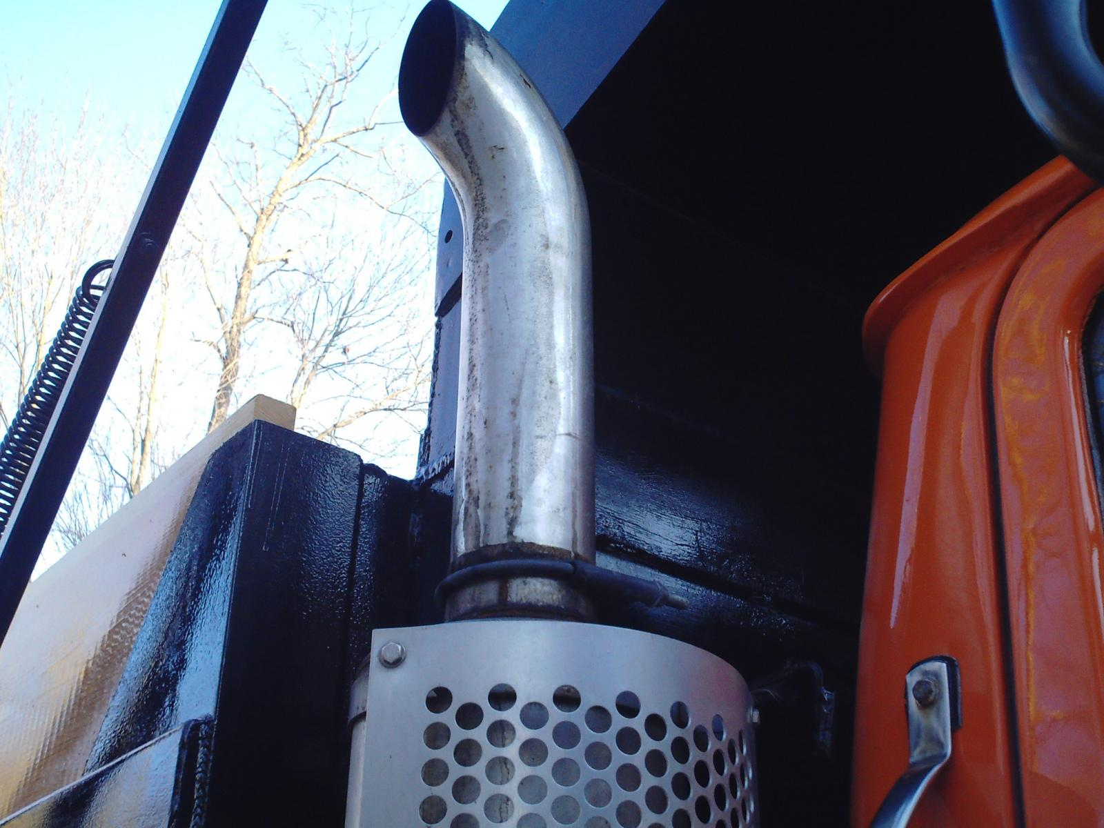 4 Quot Inch Short Chrome Curved Exhaust Stack For Dump Truck Exterior Cab Accessories And