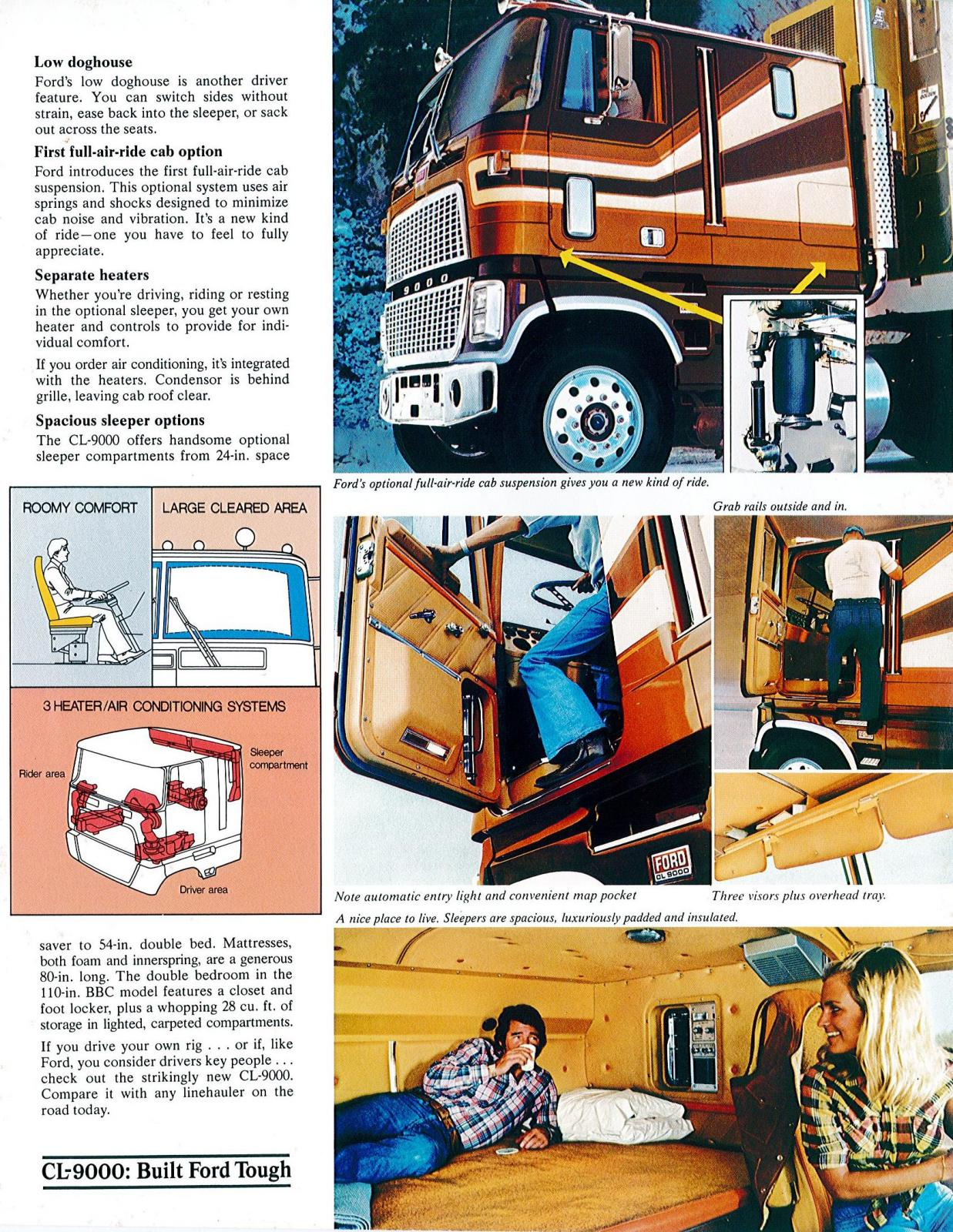 Ford 9000 Cabover Interior : Ford cl s surprise in other truck makes