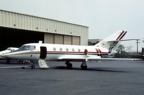 Bulldog Airlines, 1970 Dassault Falcon 20F - N10MT (June 11,1976).jpg
