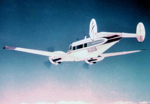 Bulldog Airlines I, Beech H-18 (reg. N1021B) 1966.jpg