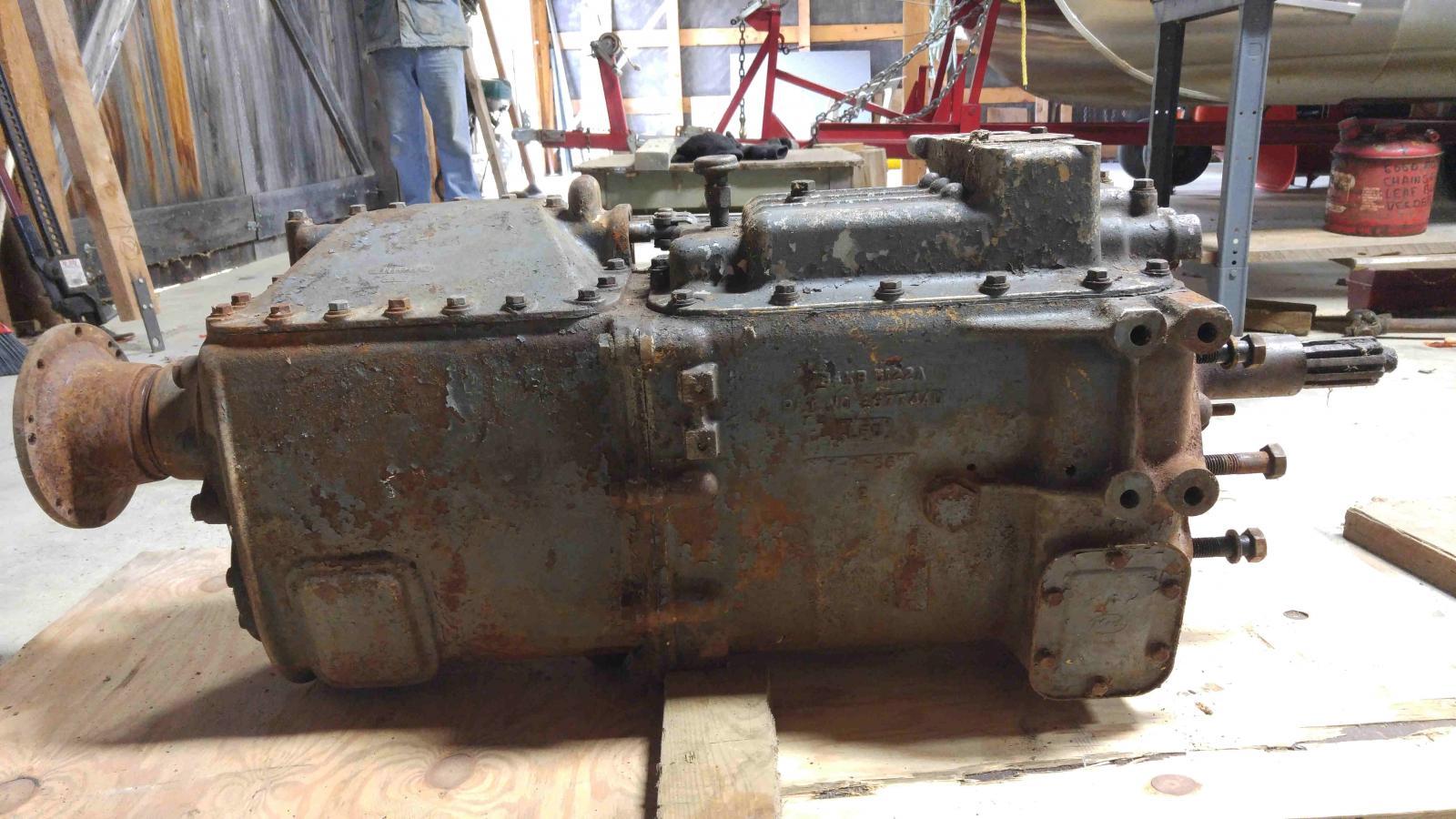 Mack quadruplex, 20/18 speed, transmisson, NOS, stampedTRQ7220, 1P1173, 11KBA5648, AP61 (Left ...