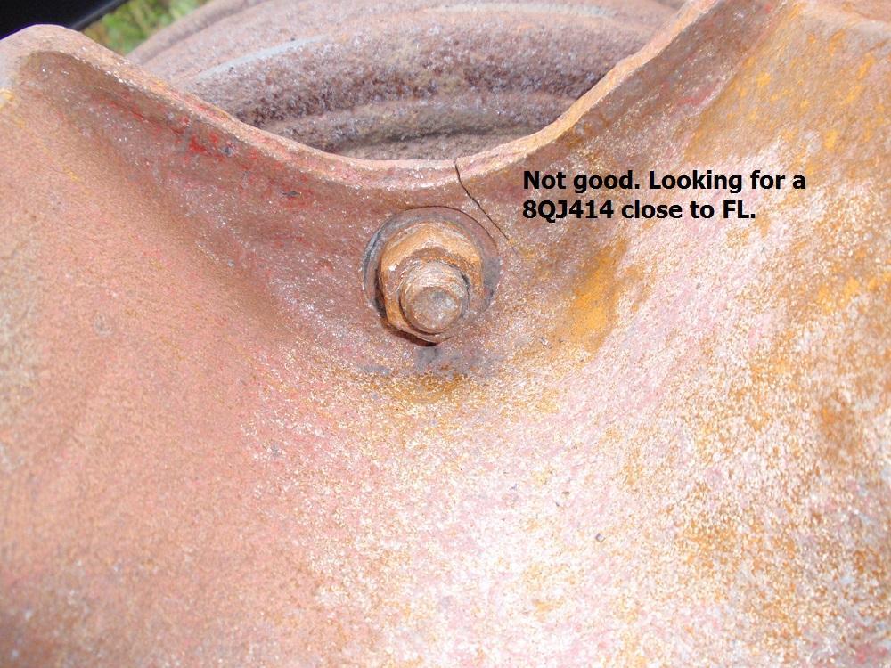 One of two bolt hole cracks