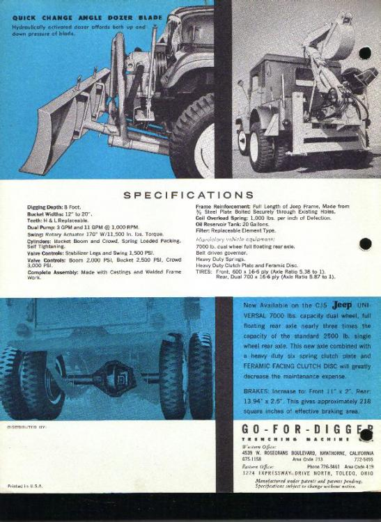 1971 Jeep Cj Back Hoe Other Truck Makes
