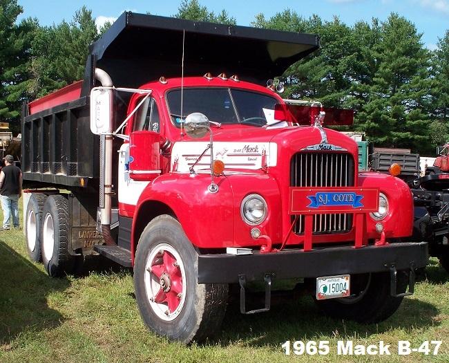 1950 To 1965 Mack Trucks : Mack b dump truck antique and classic