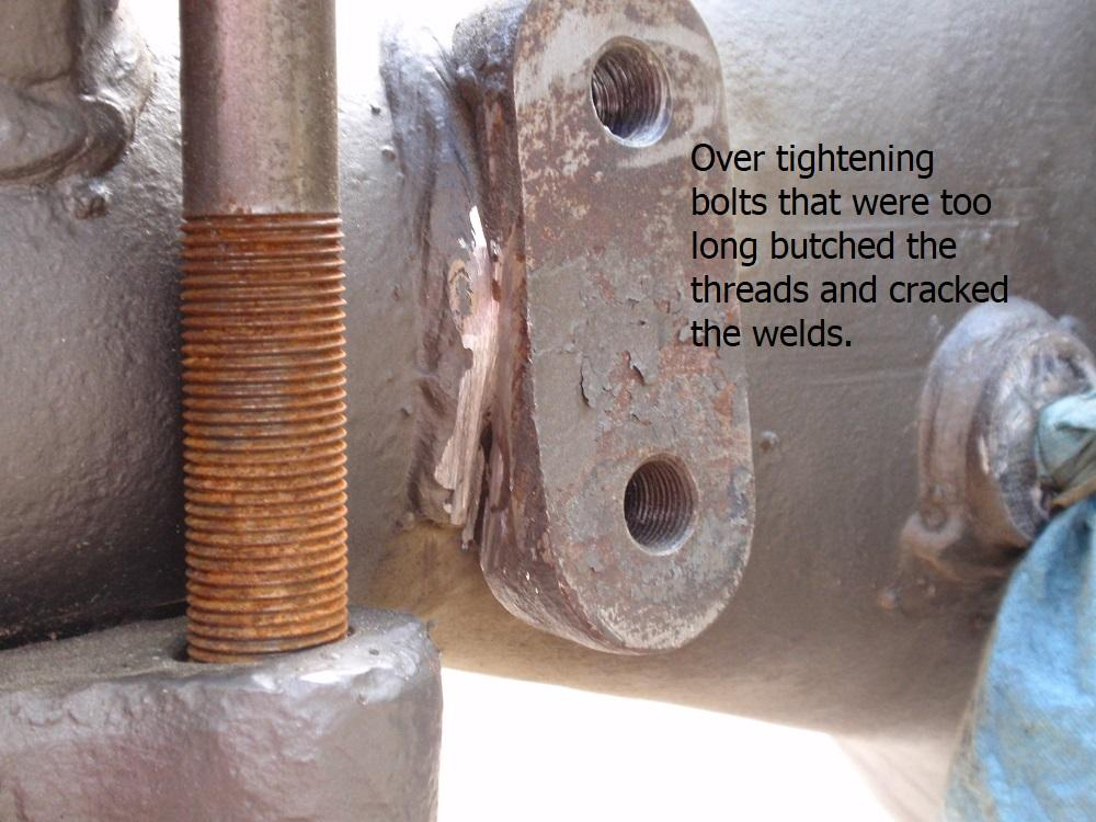 Cracked welds