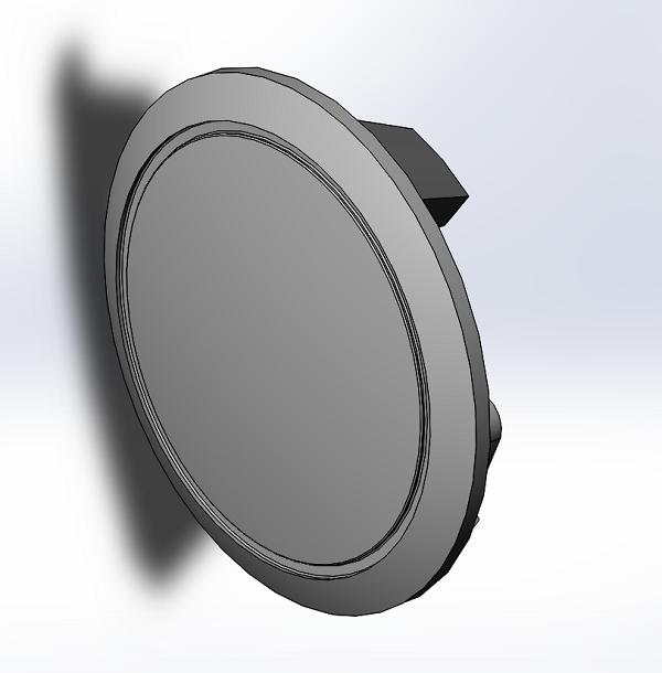 B-Model 3D Printed Horn Button